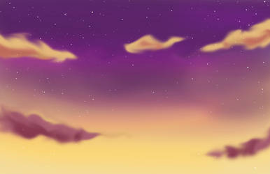 Purple - Golden Sky Background by silver-eyes-blue