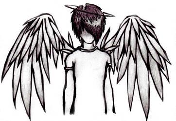 Emo Angel Boy by Skissored