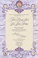 Art Nouveau Wedding Invitation by KrisCynical