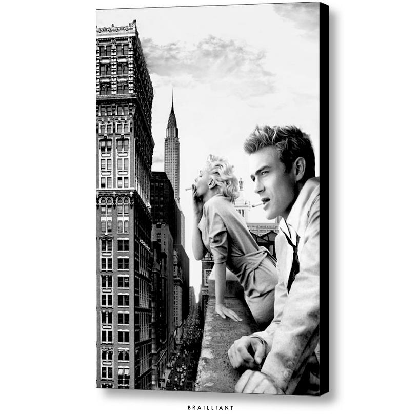 James Dean Marilyn Monroe New York Rooftop By Brailliantart On