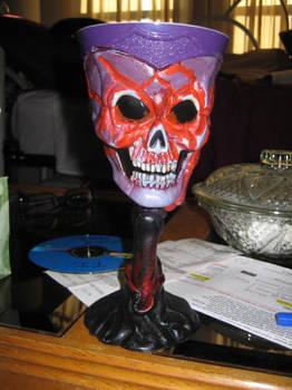 Goth Skull Cup by ArtbyNikkiB