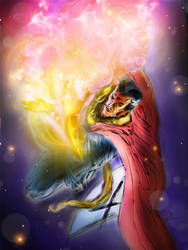 Dr Strange  made on phone.  by Sandy-reaper