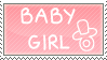 Baby Girl Stamp by diaperedbabygirl