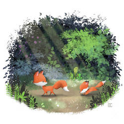 Foxes by CookiesOChocola