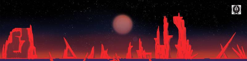 Ice lander background by Aliencon