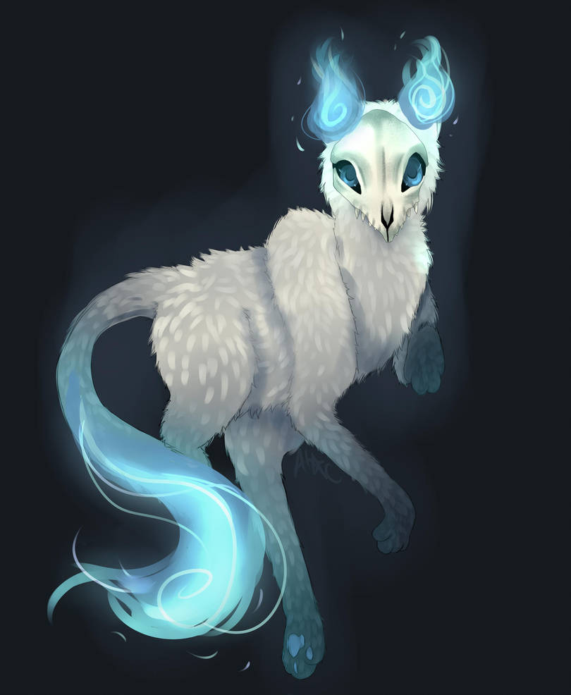 Will O Wisp Kitty by Squidelyfish