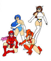 Halloween Heroines by Parasyte123