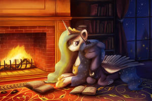 By the Fireplace by AnticularPony