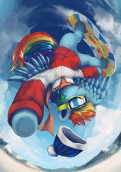 Rainbow Flip by AnticularPony