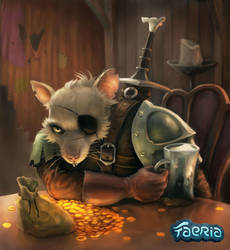 Kobold Mercenary by MatBirdie