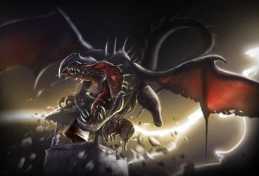 4Hour-Dragon Speed Painting Tutorial by spirapride