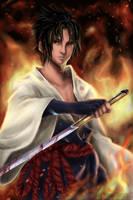 SasukeUchiha: Firestorm by spirapride