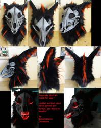 Skull K9 Premade Mask by DreamVisionCreations