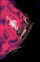 Gambit and Rogue Color by TonyParkerArt
