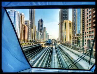 Metro in Dubai by SebKaiser