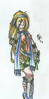 KH Styled Rikku by shuu-bunni