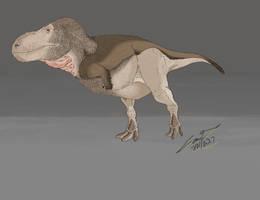 Tyrannosaurus Rex Winter Coat by CameronDillon