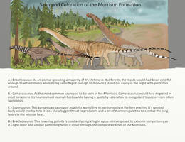 Sauropod colorations of the Morrison by CameronDillon