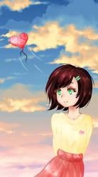 Girl with balloon  by irilis25