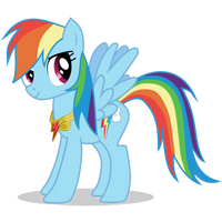 Rainbow Dash with Loyalty Necklace by 90Sigma
