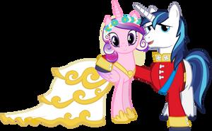 Cadance and Shining (Wedding Version) by 90Sigma