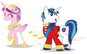 Cadance and Shining (After the Wedding) by 90Sigma