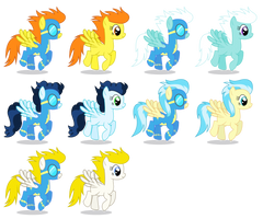 Background Wonderbolts Ponies (Female) by 90Sigma