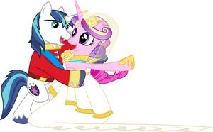 Princess Cadance and Shining Armour Dancing (1) by 90Sigma