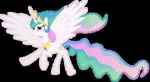 Princess Celestia in Flight by 90Sigma