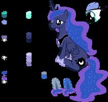 Princess Luna's (Season 2+) Colour Palette by 90Sigma