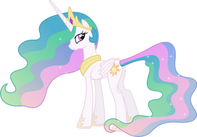 Princess Celestia Looking Behind by 90Sigma