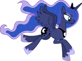 Princess Luna Flying by 90Sigma