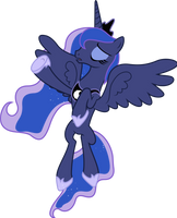 Princess Luna Flying (3) by 90Sigma