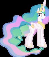 Princess Celestia Grinning (3) by 90Sigma