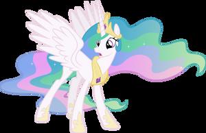 Surprised Princess Celestia by 90Sigma