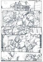 Skullkickers 18 TT DoD page 1 by biroons