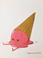 Sad strawberry icecream by tigre-lys
