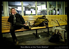 Ann-Marie at the Train Station by MrColon
