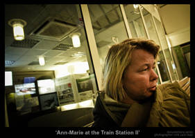 Ann-Marie at the Train St.. II by MrColon