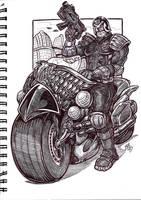Dredd sketch by jglillustration
