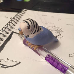 Blue Budgie by memyselfmonster