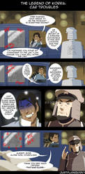 Legend of Korra: Car Troubles by justplainquirky