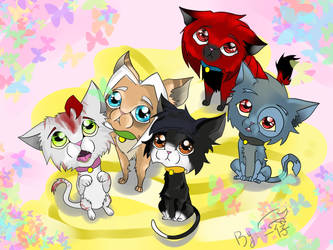 Cats by 126050922