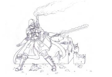 Steampunk Darth Vader (lineart) by tonystardreamer