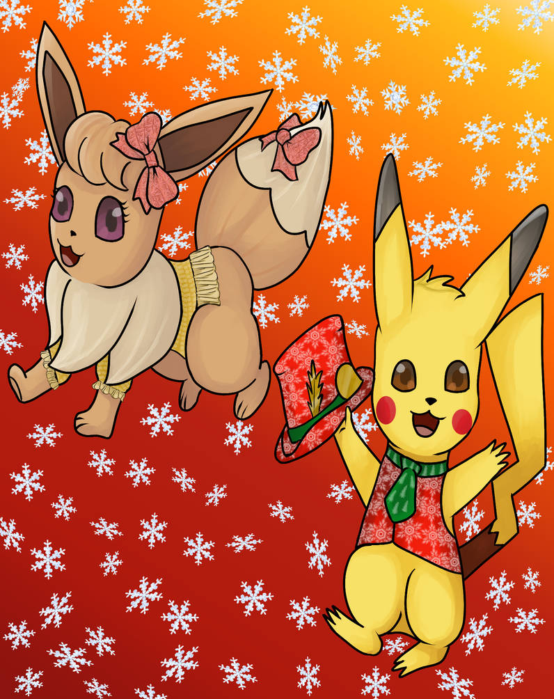 Eevee And Pikachu by PsychicDuelistRBD