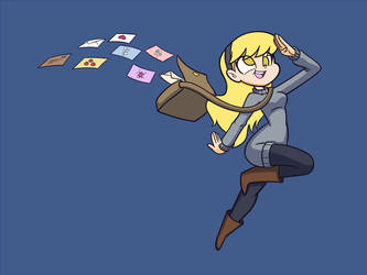 Derpy dropping mail by Khuzang