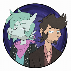Ian and Dylan +giftart+ by Rad-Puppeteer