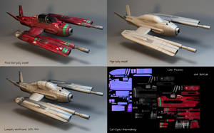 Lowpoly Spacecraft- collage _2 by Linolafett
