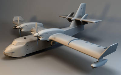 Canadair C415_ Clayrender by Linolafett