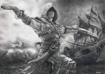 Assassin's Creed IV Black Flag Edward Kenway by Bajan-Art